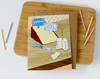 Cheese Birthday Card - cheese card, happy birthday cheese