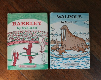 Set of 2 Vintage Children's Books by Syd Hoff - Barclay and Walpole - I Can Read Books (1970's)