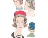 Vogue 5352 Vintage 1960s Sewing Pattern Sally Victor Hat Pill Box Hat Millinery Accessories