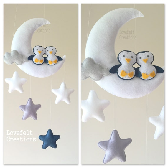 Baby mobile moon mobile baby crib mobile stars mobile - Lit bebe palette ...