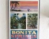 Vintage W. Harold Hancock, Bonita Springs Florida Poster, Framed