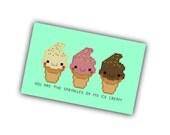 Ice Cream Cross Stitch Pattern - Kawaii Food Cross Stitch PDF - Cute Cross Stitch Pattern