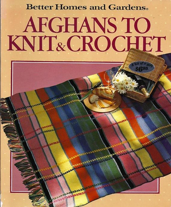 Knitting Or Crochet Better : Afghans to knit crochet better homes and gardens pattern