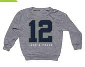 TODDLER GO HAWKS - Tri-Blend Gray Toddler Football L/S Shirt - Seattle
