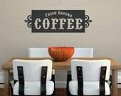 Coffee Wall Decal | Kitchen Decor | Fresh Ground Coffee | Coffee Decor | Java Wall Decal | Coffee Bar Decor | Coffee Wall Art | Espresso