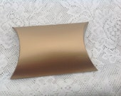 20 Gold Textured Pillow box wedding anniversary party favor