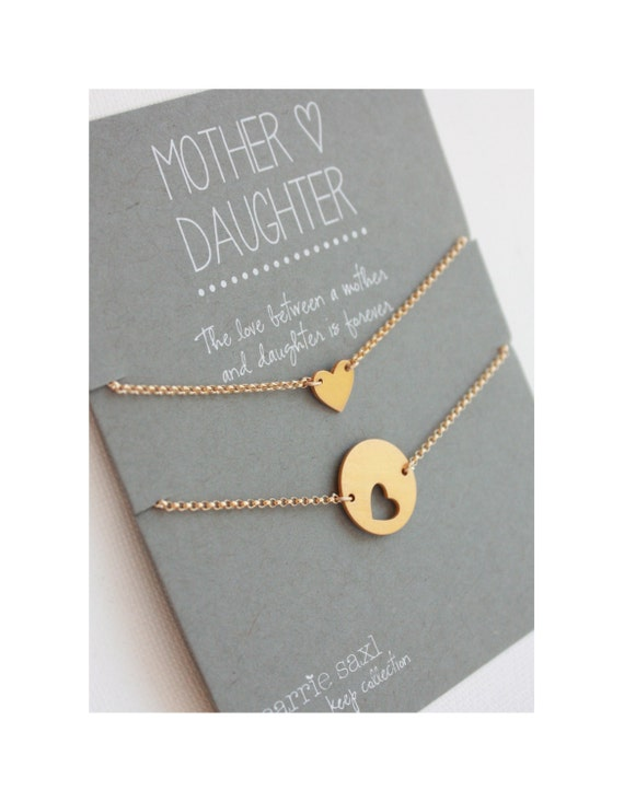 Mother Daughter Bracelet Set - Valentine - mother's day gift - mother daughter jewelry - wedding jewelry - for mom - mom gift - for daughter