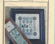 """Clearance - """"Thistle Clock & Sampler"""" Counted Cross Stitch Chart by M Designs"""