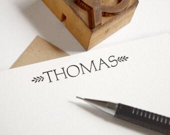 Custom Letterpress Stationery - Personalized Flat Note Cards - Kraft Paper Aldine