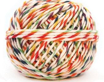 Rainbow and White Hemp Gift Cord, Variegated Gift Cord