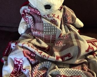 Texas A & M Aggies Football Fleece Sports Baby Blanket