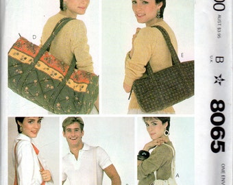 Tote Bag, Purse, Summer Bags Pattern - McCall's 8065 - uncut