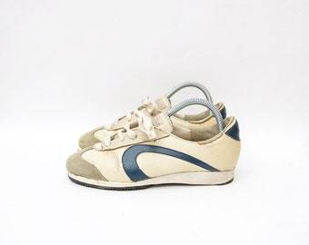Vintage white leather ASTRA women 80s trainers