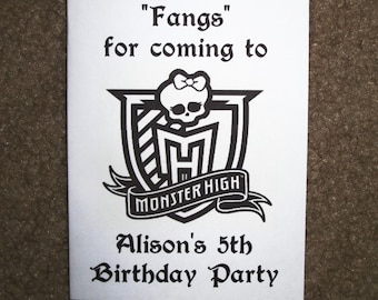 PDF FILE ONLY-- Monster High Inspired Personalized Coloring Pages Booklets Books Birthday Party Favors Vampire Doll