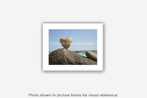 Heart Rock Matted Photos, Prints, Wall Art, Blank Photo Greeting Cards, Birthday Gifts for Him, Boyfriend, Husband, Her, Girlfriend, Wife