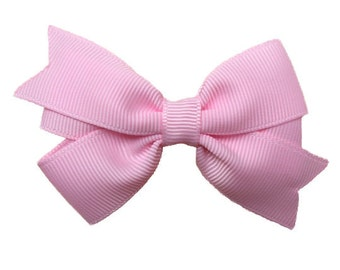 3 inch light pink hair bow - light pink bow