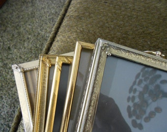 5 ornate vintage 5x7 wedding table picture frames