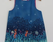 Navy Summer Nets Dress - Made to order ages 3mths to 6yrs