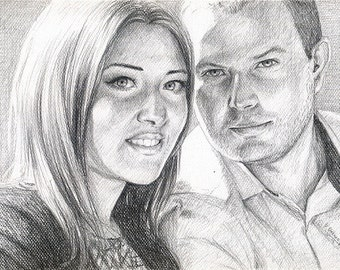 A4 Custom Pencil Portrait from photo