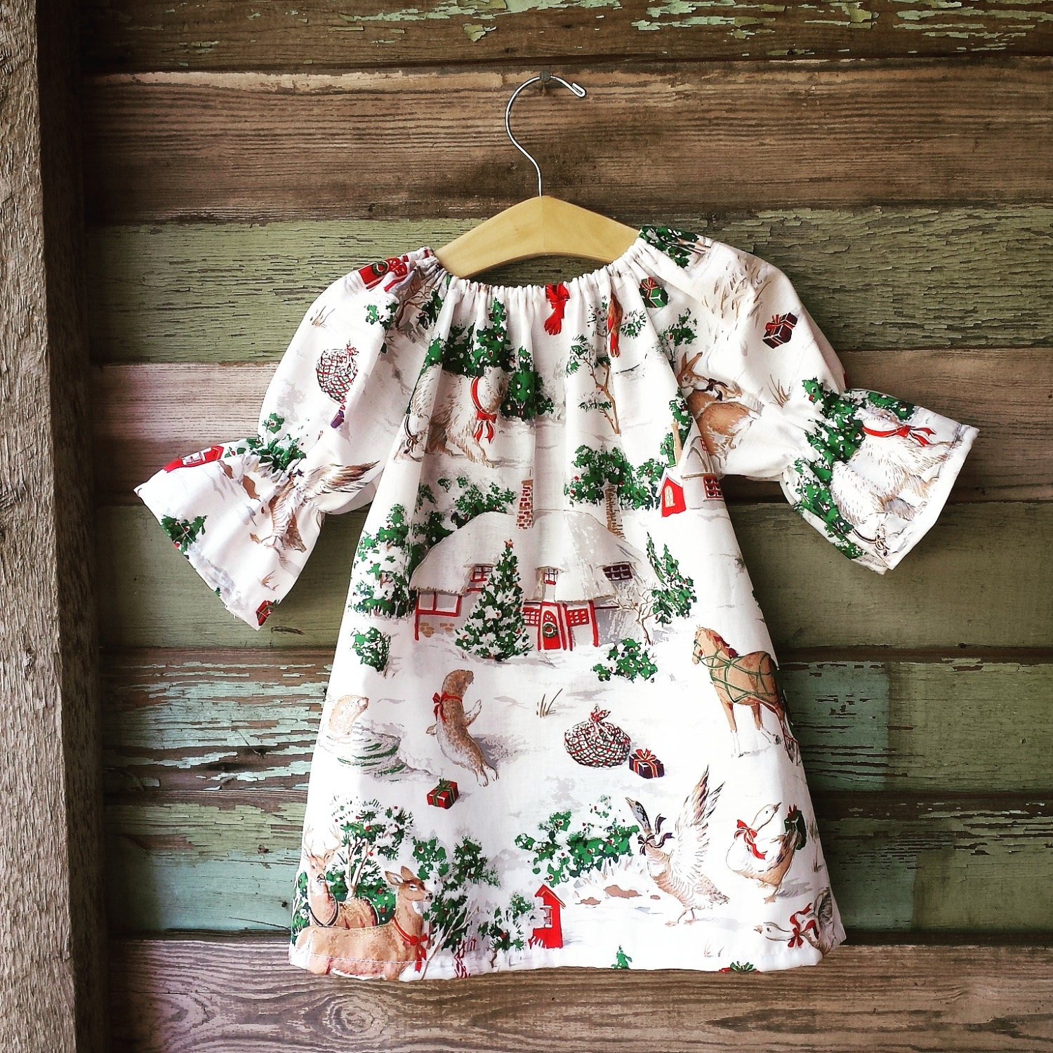 Girls Christmas Dress Winter Dress Nightgown Christmas