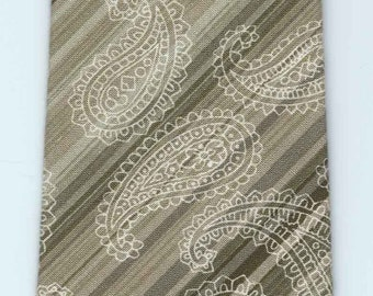 Handmade Olive Paisley Cotton Tie