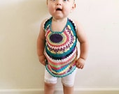 Chidrens halter top, kids crocheted top,kids hippie top, kids fashion, children's clothing