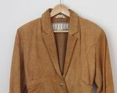 Vintage Suade Cropped Fringe Jacket