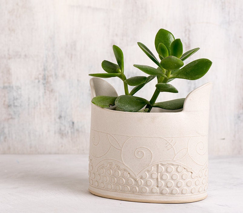 Ceramic Planter Ceramic Flower Pot White Modern Vase