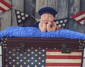 Baby Boy Hat 0 to 3 Month Navy Blue Baby Hat Baby Boy Cap Irish Wool Donegal Cap Donegal Hat Flat Cap Driving Cap Newsboy Cap Baby Boy Gift