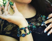 Key to the Galaxy double row galactic bracelet- Street Style Collection