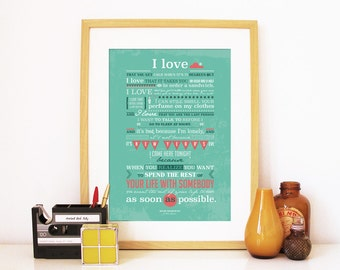 When Harry Met Sally Poster Movie romantic quote Love perfect gift Valentine movie poster typography print poster movie quote art when harry