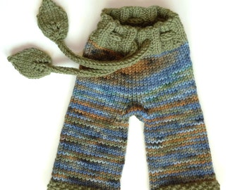 Wool longies  - custom knit wool baby pants - wool diaper covers