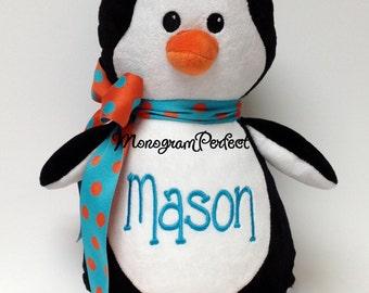 Personalized Plush Black Penguin Soft Toy