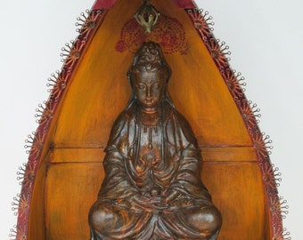 Up-cycled Assemblage Primitive Shrine, Kwan Yin