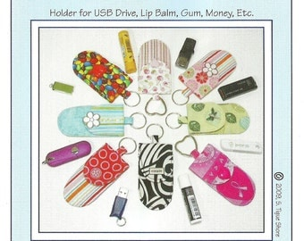 Key Fob Pockets, Holder for Small Items, DIY Sewing Pattern