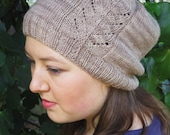 Feather in my Cap Hat Knitting Project Kit - Contains: PDF Pattern and One Skein of Celeste Yarn in Colorway of Choice