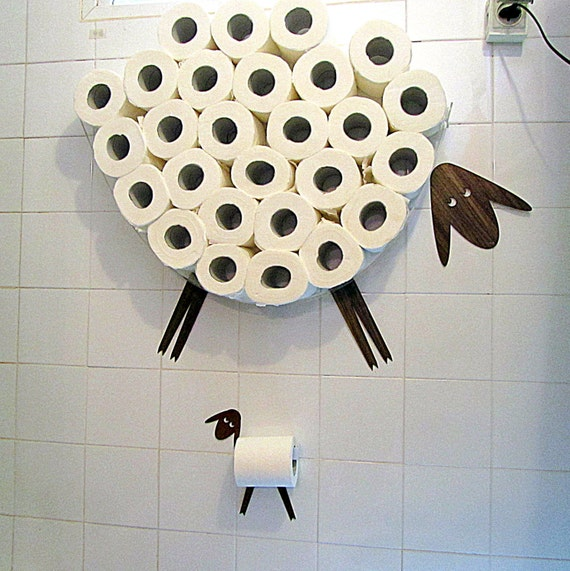 Set Wall Shelf For Storing Of Toilet Paper Rolls And By Antgl