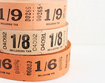 18 Vintage British Cinema Tickets - Pick Your Combo - Orange and Cream Movie Tickets from the UK - Warm Tone Ticket Mix - Embellishments