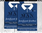 Polo Baby Shower Invitation Shirt, A little Man is On the Way invitation, horseman- Design #153
