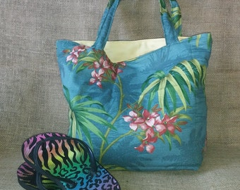 Glittering Tropical Paradise Tote Tommy Bahama Fabric
