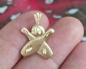14kt Yellow Gold Bowling Pendant A327