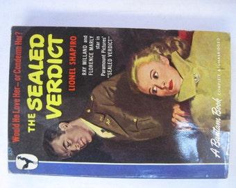 The Sealed Verdict 1940's Noir Paperback