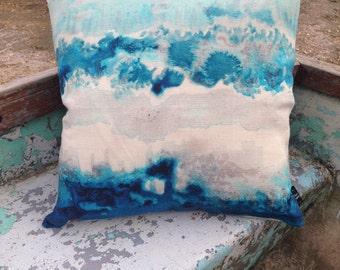 """COVER 100% Natural Linen Cushion Cover - 18"""" Spring Tide"""