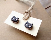 Steven Universe Cookie Cat stud earrings