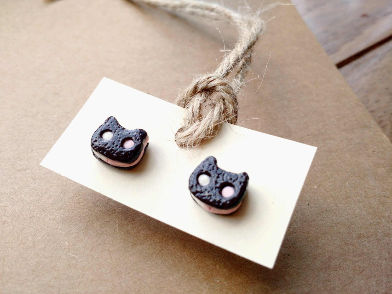 steven universe earrings steven universe cookie cat stud earrings by nanwoods on etsy 6733