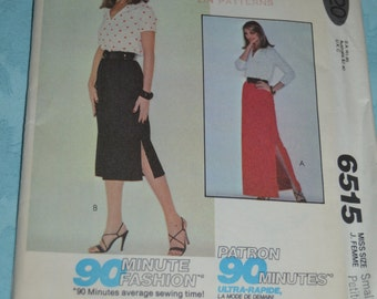 McCalls 6515 Misses Skirt Sewing Pattern - Sizes  Small - UNCUT