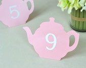 Teapot Shaped Table Numbers Set of 10