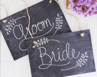 Bride and Groom Chalkboard Signs, Mr Mrs Prop Signs, Mr Mrs Chair Signs, Chalkboard Wedding Signs, Chalk Signs, DIY Wedding Signs