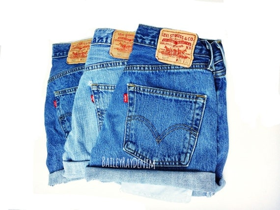 levis shorts high waisted cutoffs denim cheeky all sizes. Black Bedroom Furniture Sets. Home Design Ideas