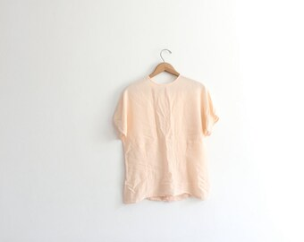 Ballet Pink Loose Silk Top